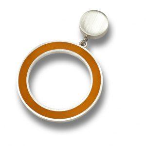 orecchini argento e resina scomponibili