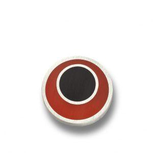 orecchini a bottone in argento e resina